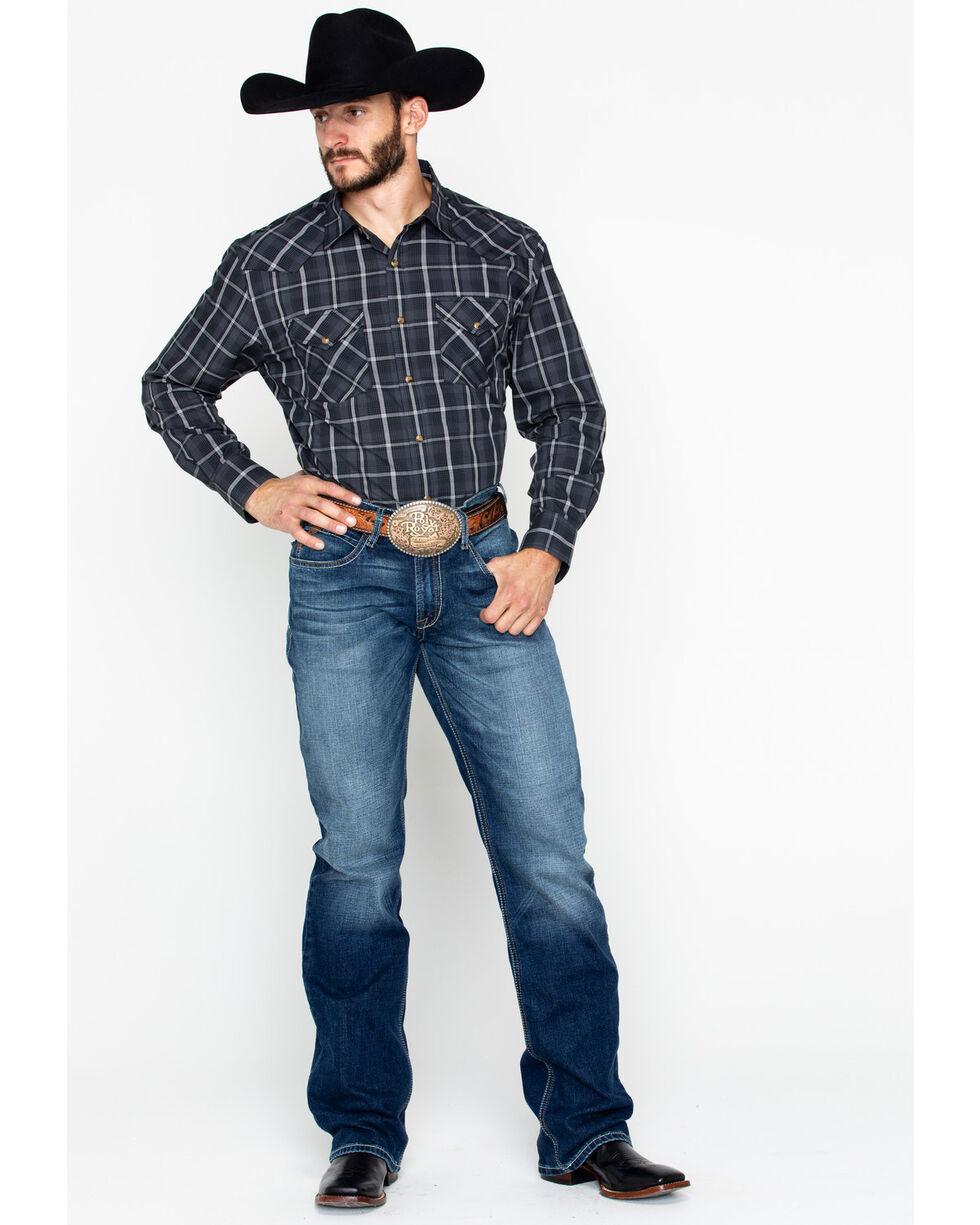 Pendleton Men's Frontier Long Sleeve Plaid Shirt , Grey, hi-res