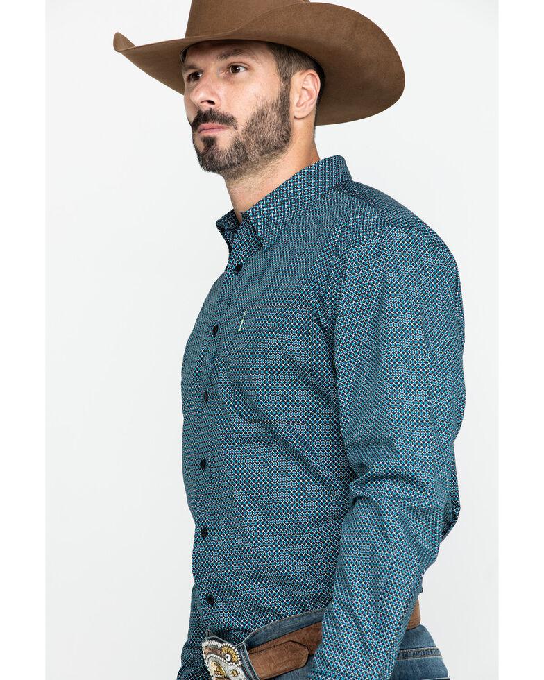 Cinch Men's Modern Fit Multi Small Geo Print Long Sleeve Western Shirt , Multi, hi-res