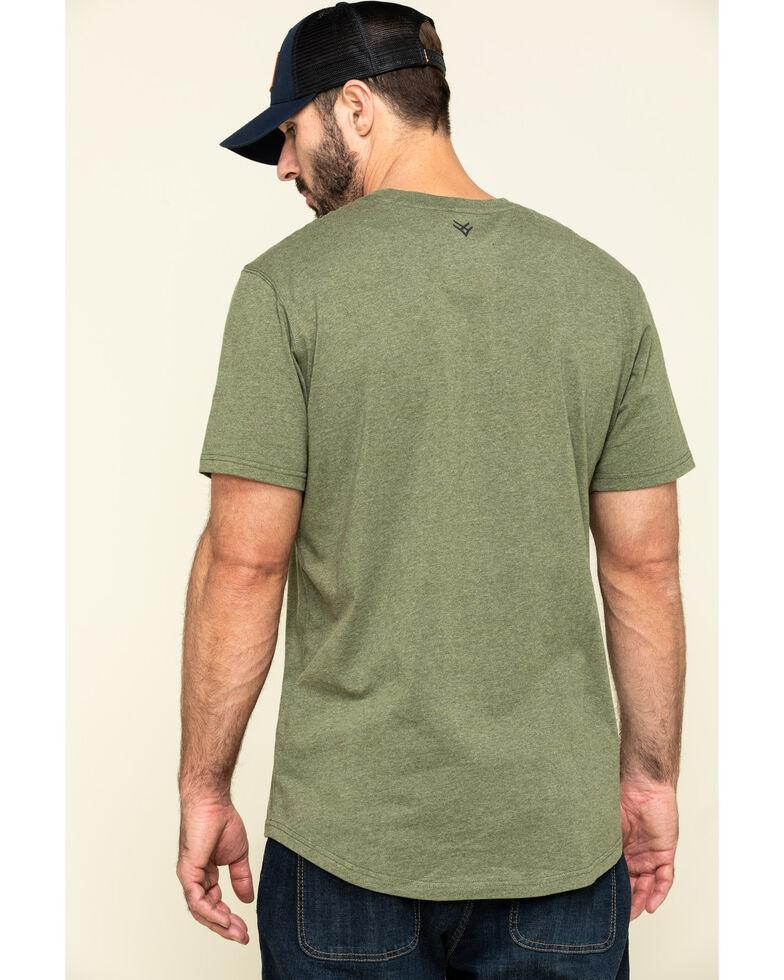 Hawx Men's Olive Solid Pocket Short Sleeve Work T-Shirt , Olive, hi-res