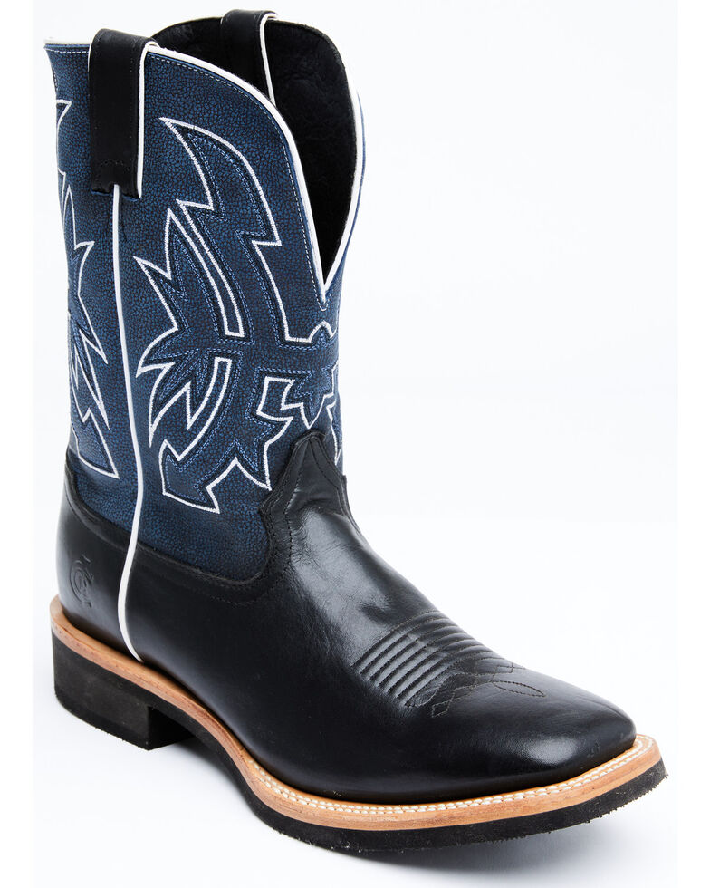Cody James Men's Clear Lake Western Boots - Wide Square Toe, Black, hi-res