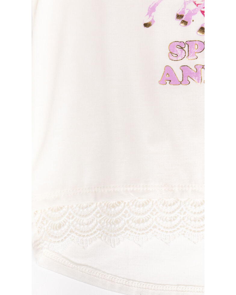 Shyanne Girls' Ivory Horse Spirit Graphic Tee, Ivory, hi-res