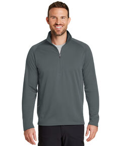 Eddie Bauer Men's Iron Grey Smooth Fleece Base Layer 1/2 Zip Pullover Sweatshirt, Grey, hi-res
