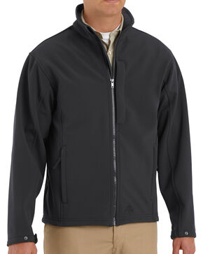Red Kap Men's Black Soft Shell Jacket , Black, hi-res
