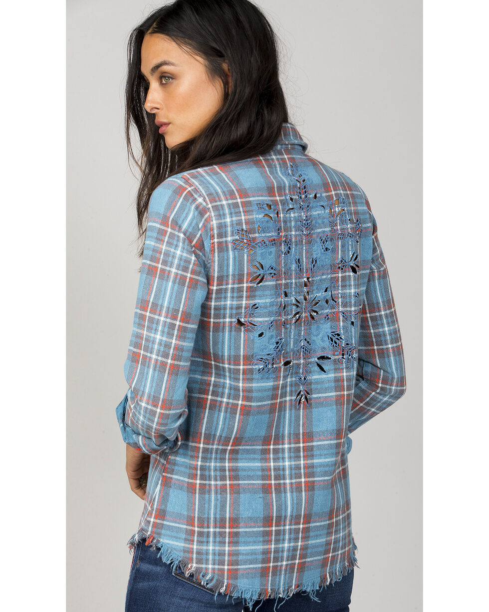 MM Vintage Women's Blue A Cut Above Plaid Shirt, Blue, hi-res