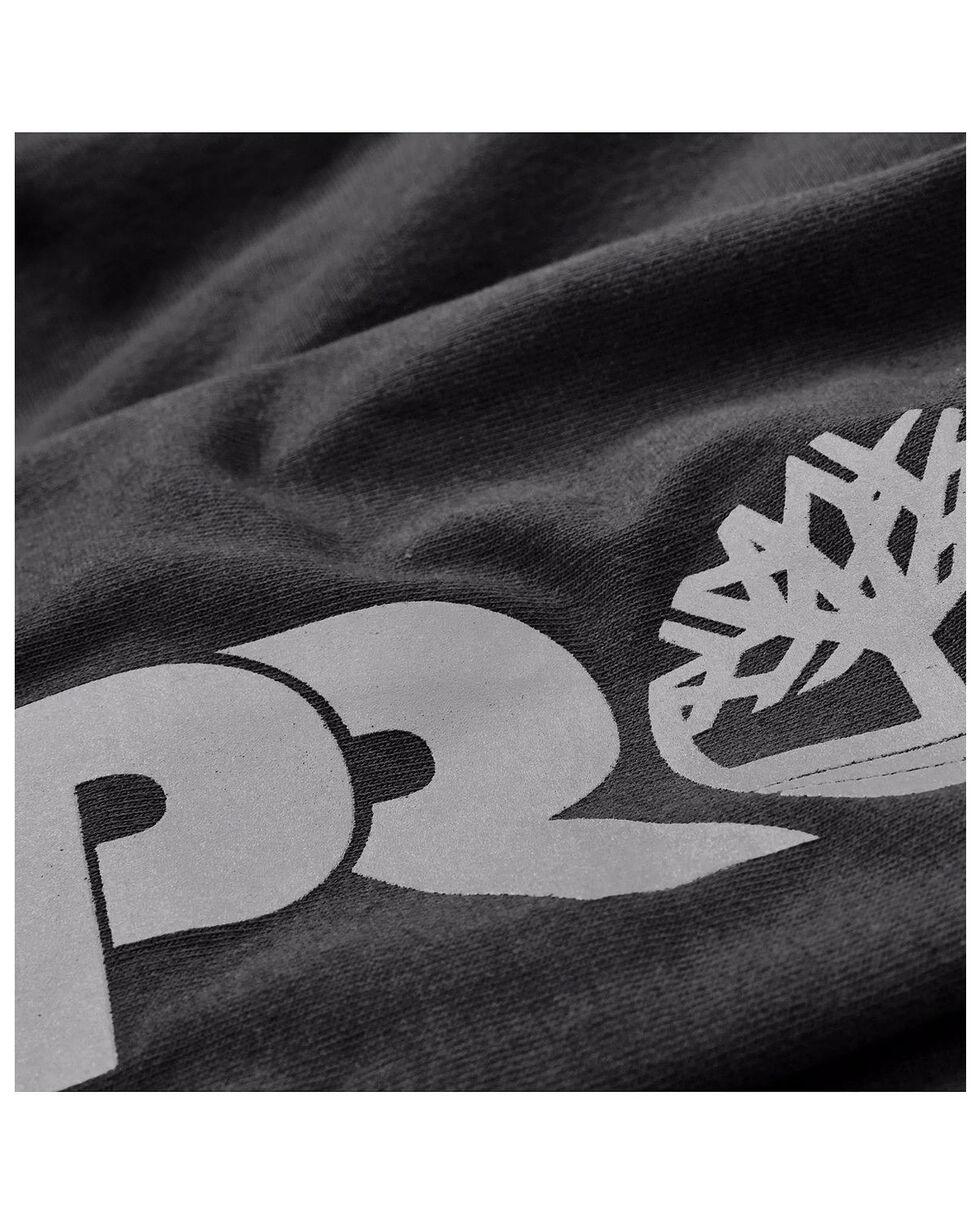 Timberland Men's Base Plate Blended Logo Sleeve Work T-Shirt- Big & Tall , Black, hi-res