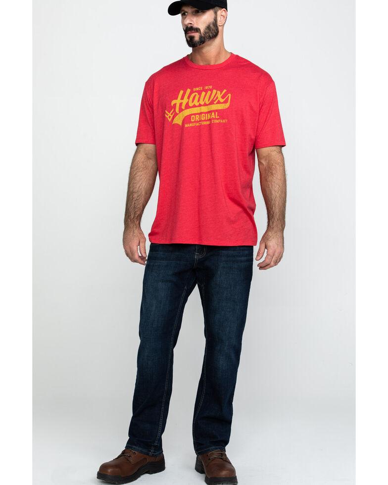 Hawx® Men's Red Original Script Graphic Work T-Shirt , Heather Red, hi-res