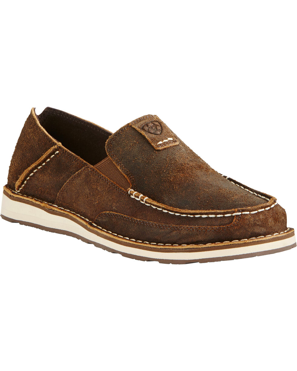 Ariat Men's Rough Oak Slip-on Shoes, Brown, hi-res