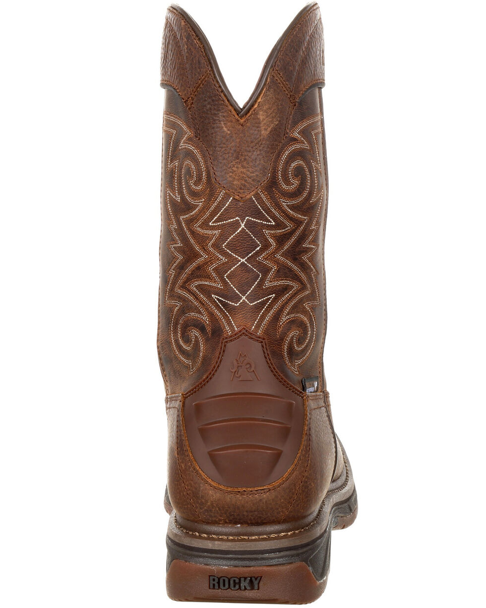 Rocky Men's Iron Skull Waterproof Western Boots - Square Toe, Brown, hi-res