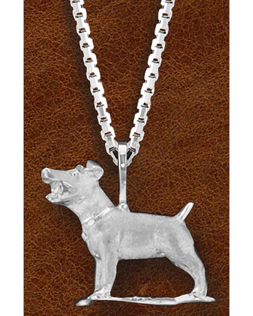 Kelly Herd Women's Sterling Silver Jack Russell Necklace, Silver, hi-res