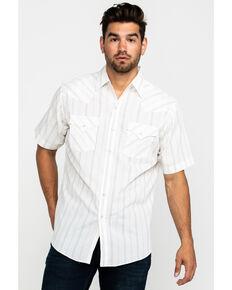 Ely Cattleman Men's Assorted Textured Stripe Short Sleeve Western Shirt , Multi, hi-res