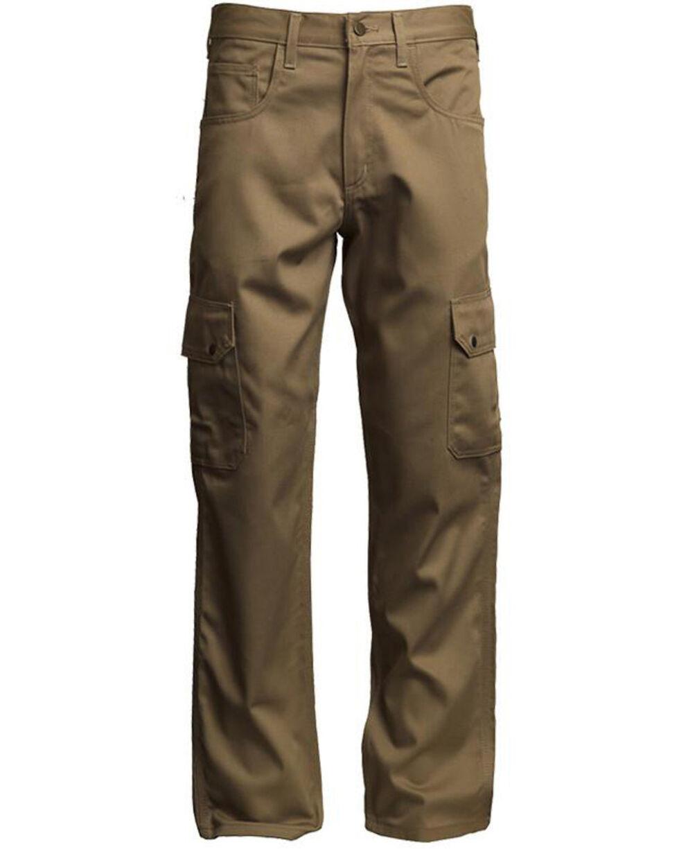 Lapco Men's FR Reinforced Straight Cargo Work Pants , Beige/khaki, hi-res