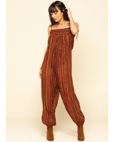 Free People Women's Stripe Harmen Lurex Jumpsuit, Black, hi-res