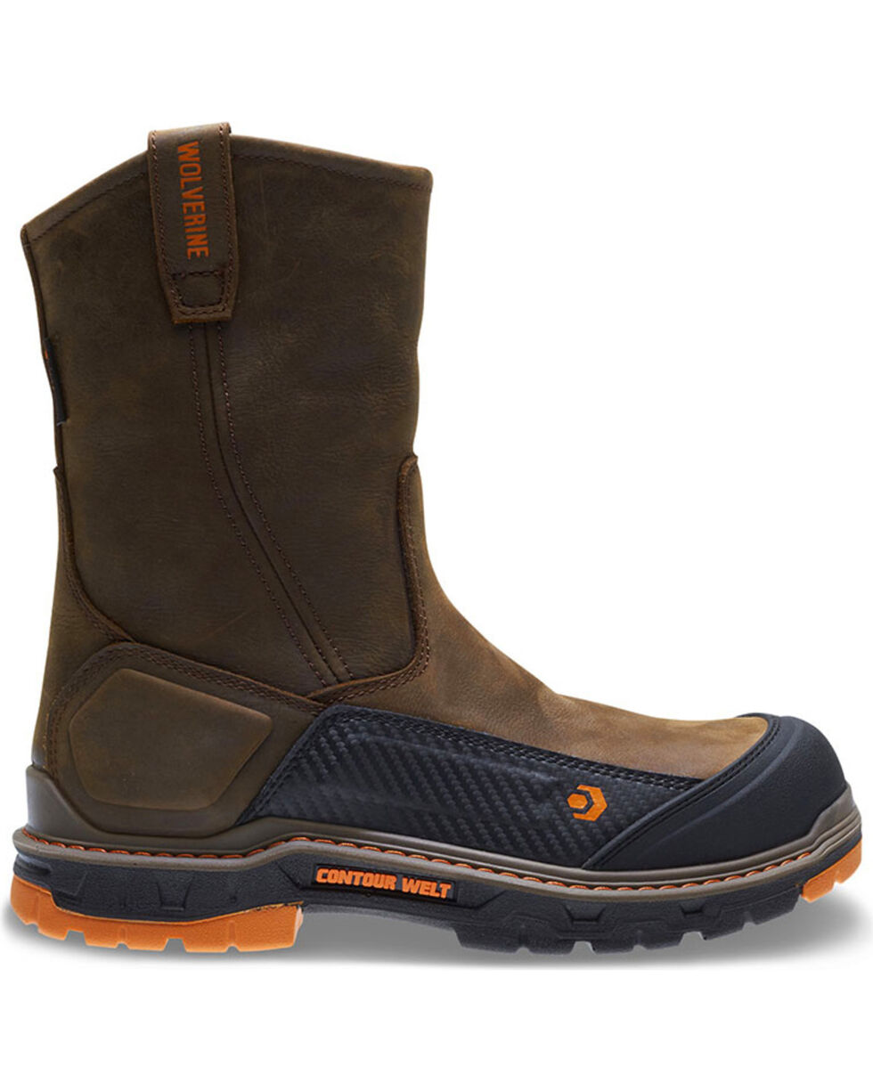 Wolverine Men's Overpass Pull-On Steel Toe Work Boots, Brown, hi-res