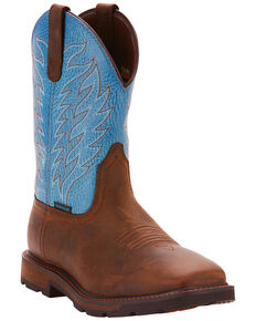 Ariat Men's Brown Groundbreaker H20 Boots - Square Toe , Dark Brown, hi-res