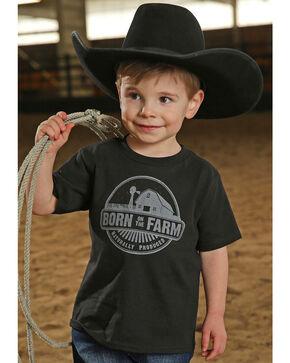 Cinch Toddler Boys' Born On The Farm Short Sleeve Tee, Black, hi-res