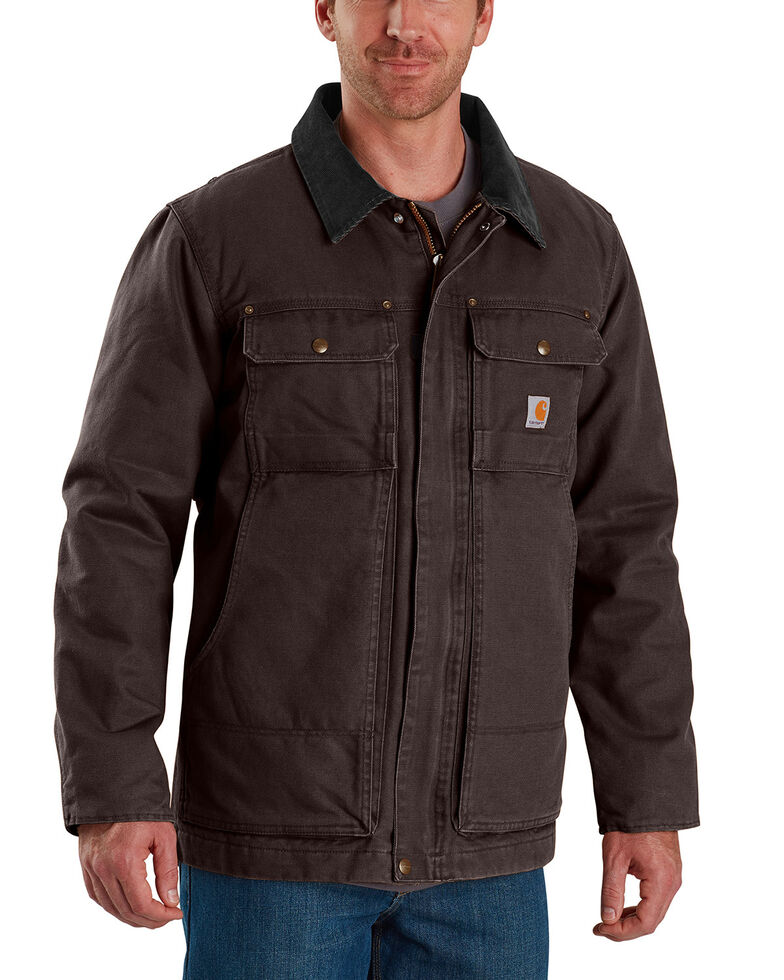 Carhartt Men's Full Swing Traditional Coat , Dark Brown, hi-res