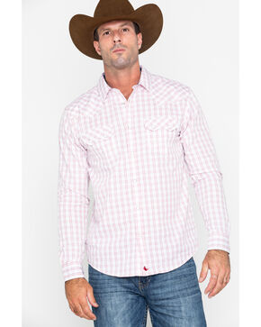 Cody James Men's Bloodlines Slim Plaid Long Sleeve Western Shirt , White, hi-res
