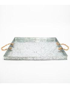 BB Ranch Metal Horseshoe Tray, Silver, hi-res