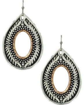 Montana Silversmiths Women's Feathered Flight Earrings , Silver, hi-res