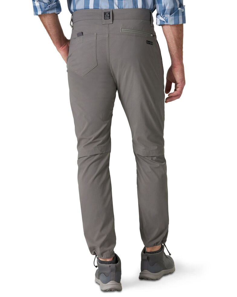 Wrangler ATG Men's Charcoal Outdoor Convertible Trail Jogger Pants, Charcoal, hi-res