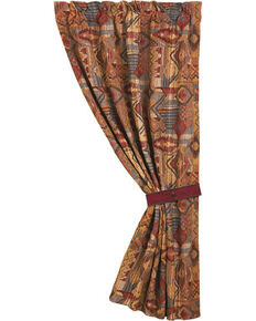 """HiEnd Accents Ruidoso Collection Patchwork Curtain Panel - 48"""" x 84"""", Multi, hi-res"""