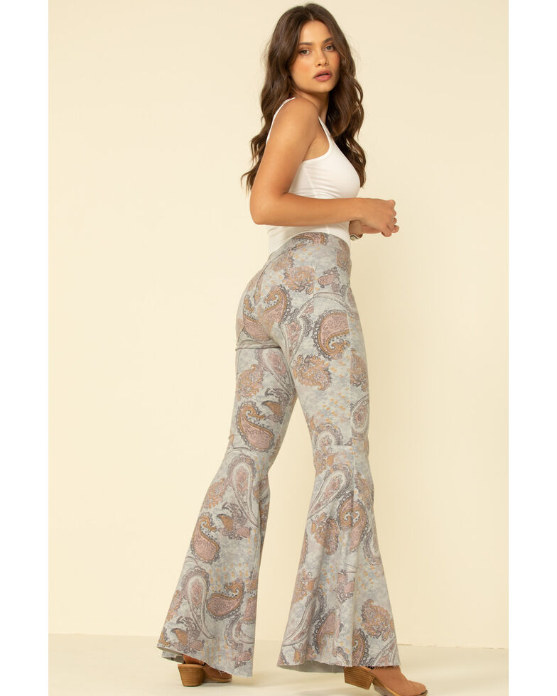 Free People Women's Geo Just Float On Flare Jeans, Multi, hi-res