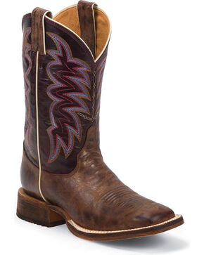 Justin Women's Cedro Bent Rail Western Boots, Bronze, hi-res
