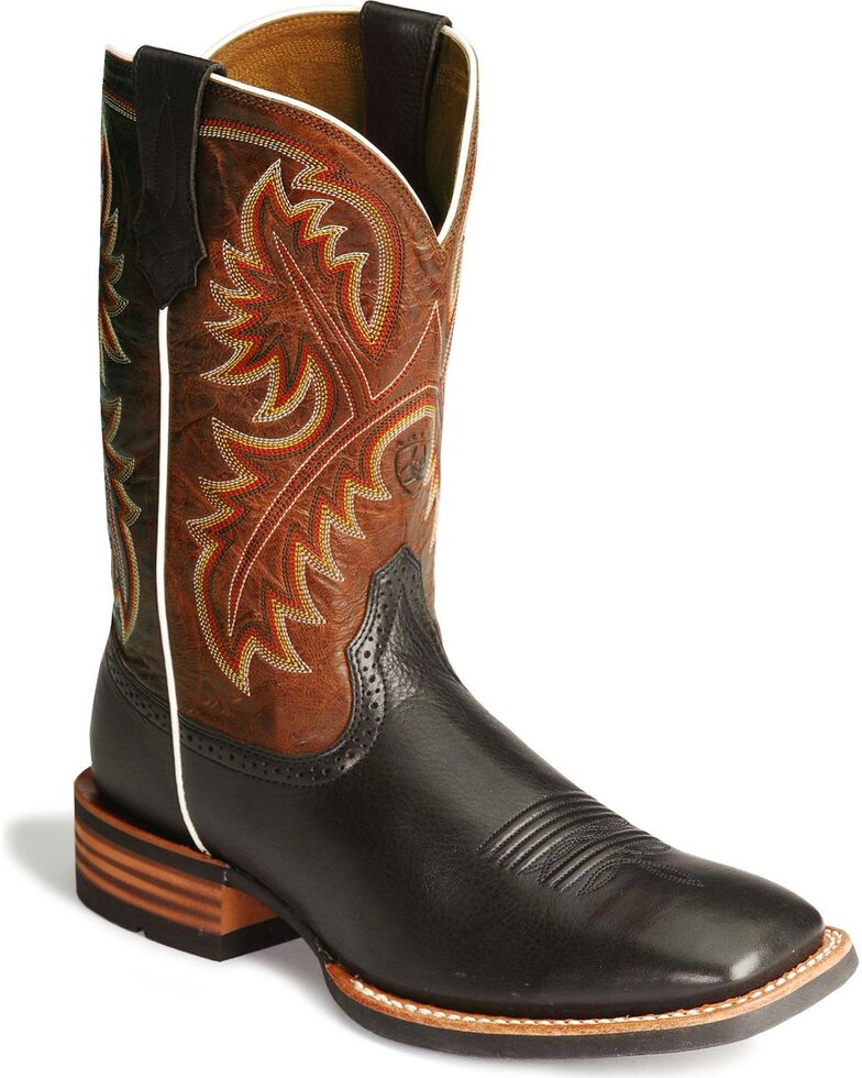 Ariat Men's Quickdraw Western Boots, Black, hi-res