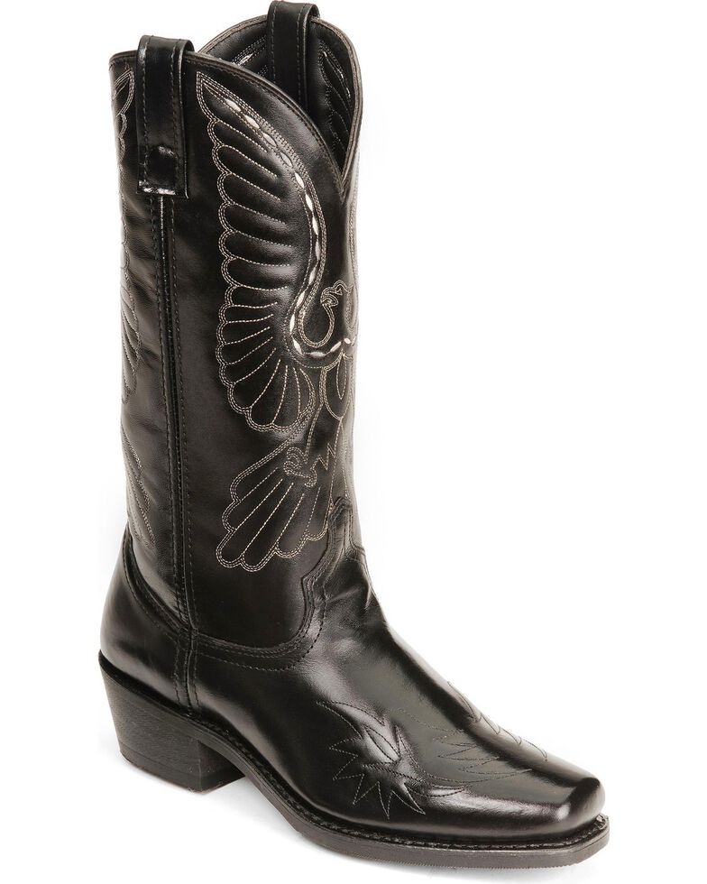 Laredo Men's Gainesville Western Boots, Black, hi-res
