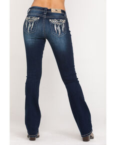Miss Me Women's Dark Wash Low Rise Dream Catcher Bootcut Jeans, Blue, hi-res