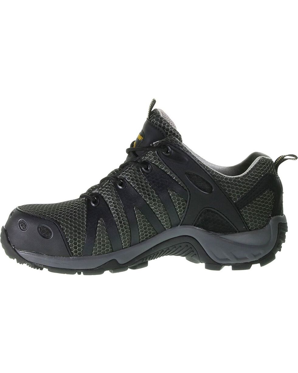 Wolverine Men's Mid-Cut Trail Runner Work Shoes, Black, hi-res