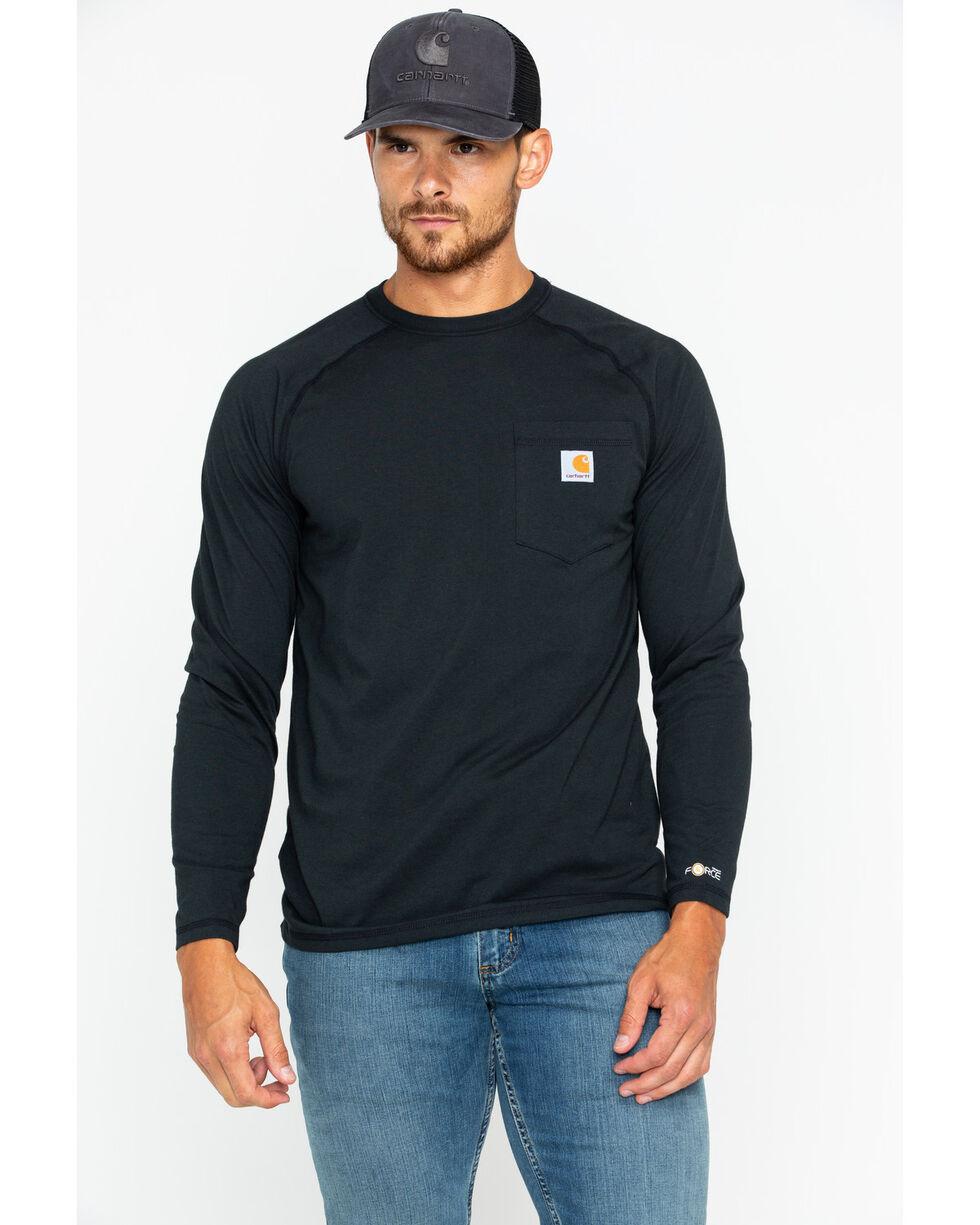 Carhartt Force Long Sleeve Work Shirt, Black, hi-res