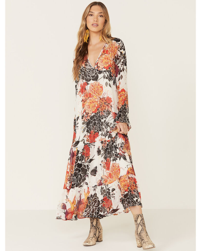 Free People Women's Ivory Moroccan Maxi Dress, Ivory, hi-res