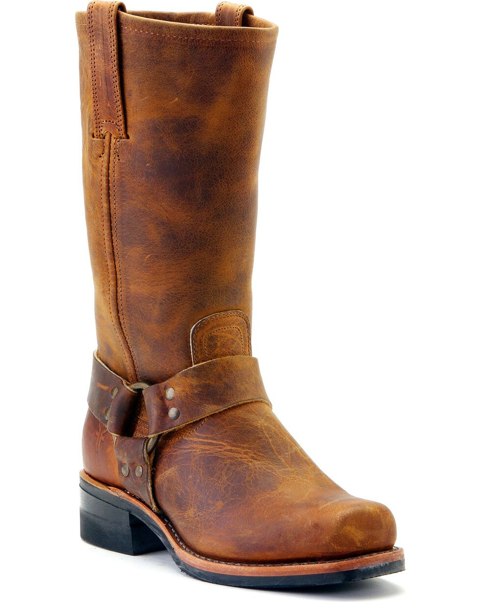 Frye Men's Harness 12R Motorcycle Boots, Dark Brown, hi-res