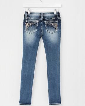 Miss Me Girls' (7-14) Faded Skinny Jeans , Indigo, hi-res