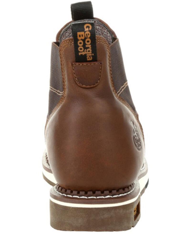 Georgia Boot Men's Waterproof Chelsea Work Boots - Soft Toe, Brown, hi-res