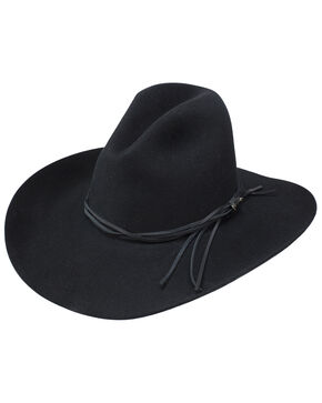 Stetson Men's Gus Black Felt Hat, Black, hi-res