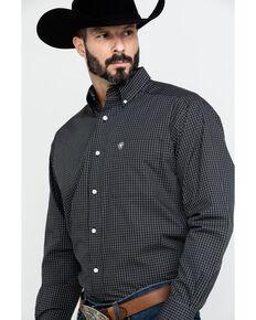 Ariat Men's Wrinkle Free Clearfield Plaid Long Sleeve Western Shirt , Black, hi-res