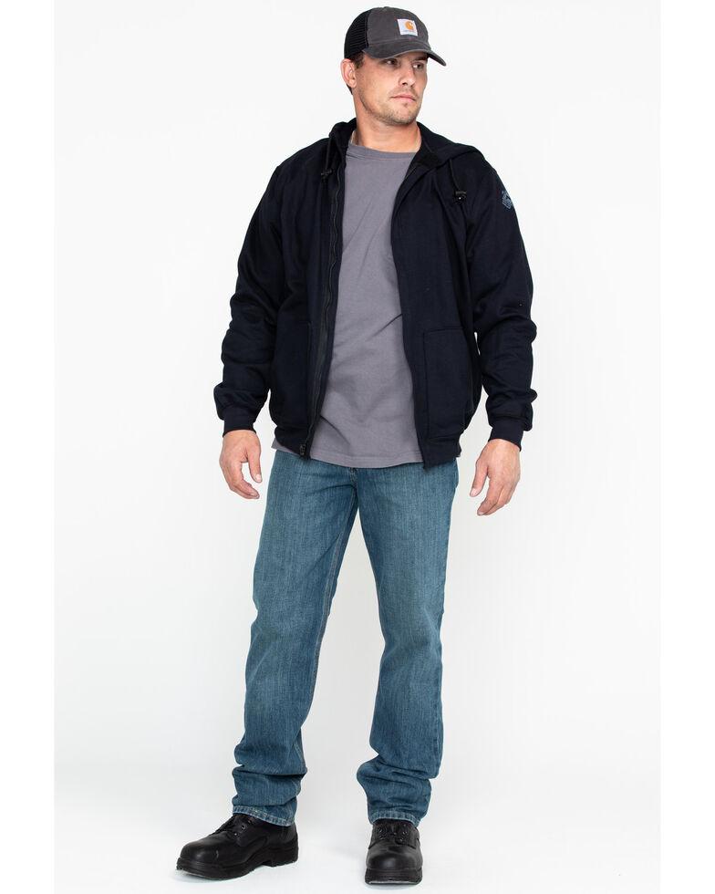 National Safety Apparel Men's Navy Heavyweight FR Zip Front Sweatshirt - Tall, Navy, hi-res