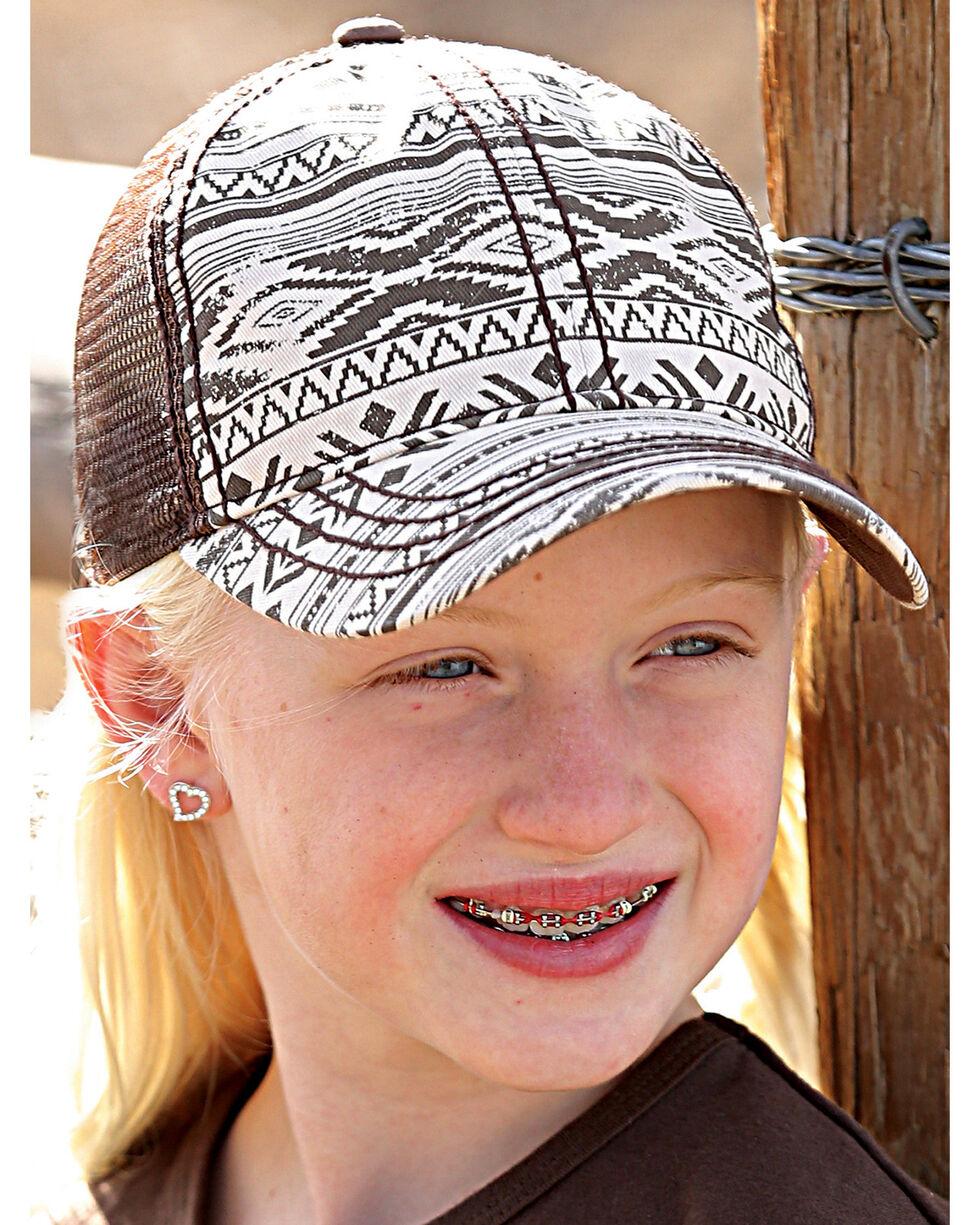 Cruel Girl Girls' Brown Aztec Printed Trucker Cap , Brown, hi-res
