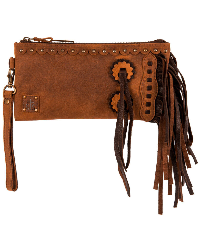 STS Ranchwear Women's Brown Chaps Clutch , Brown, hi-res