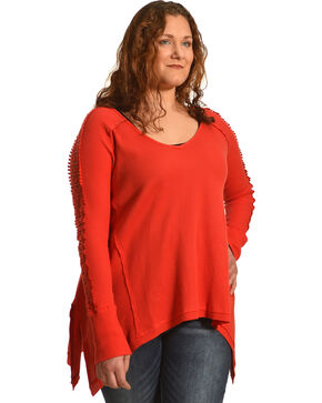 Angel Premium Women's Tandie Top - Plus, Red, hi-res