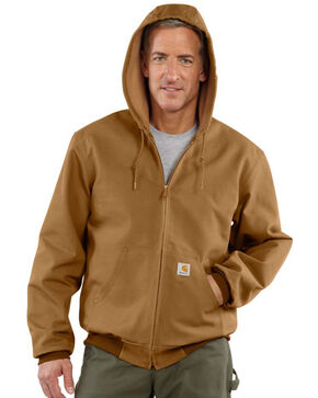 Carhartt Men's Duck Active Thermal Lined Jacket, Carhartt Brown, hi-res