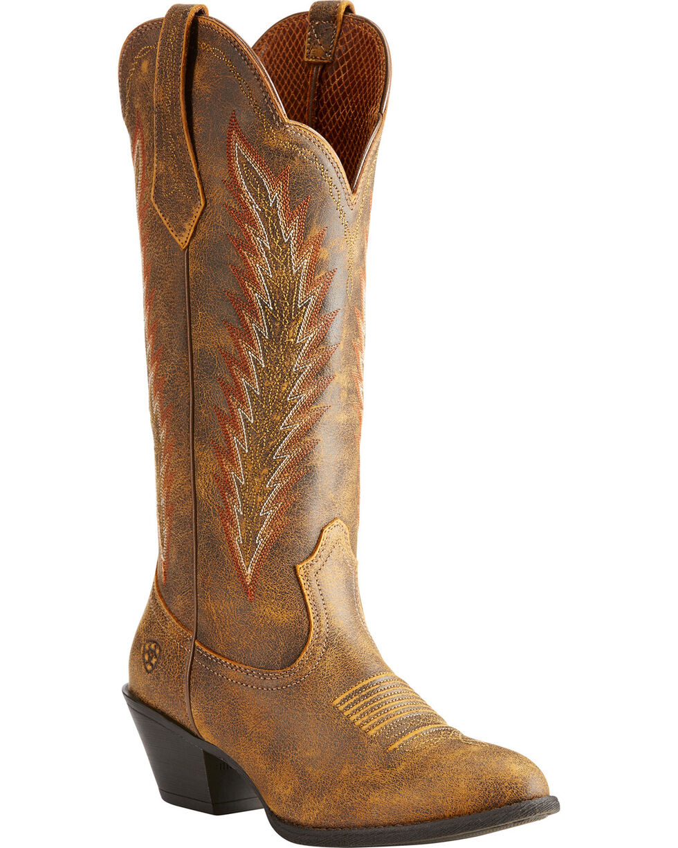 Ariat Women's Brown Desert Sky Vintage Bomber Boots - Medium Toe , Brown, hi-res