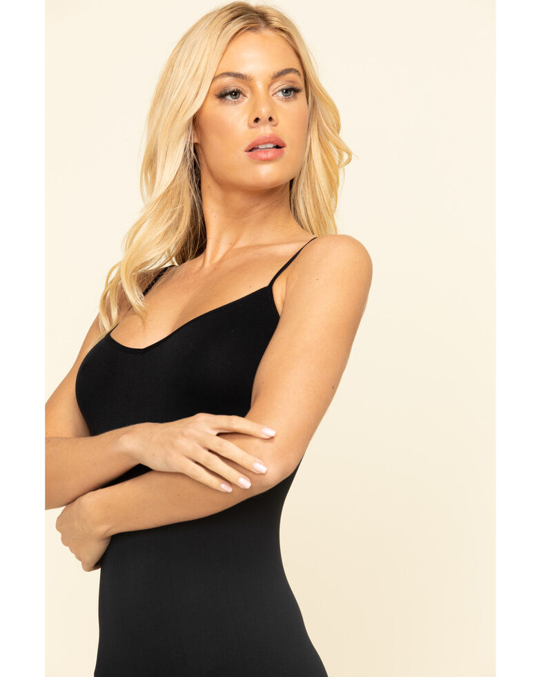 Intimately by Free People Women's Solid Seamless Mini Slip , Black, hi-res