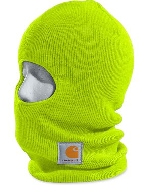 Carhartt Men's Ribbed Knit Face Mask, Lime, hi-res