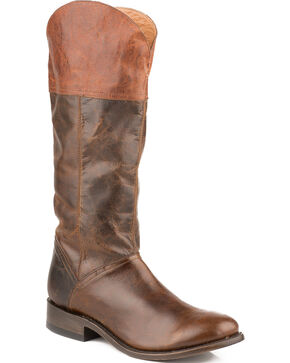 Stetson Women's Abbie Western Boots, Dark Brown, hi-res
