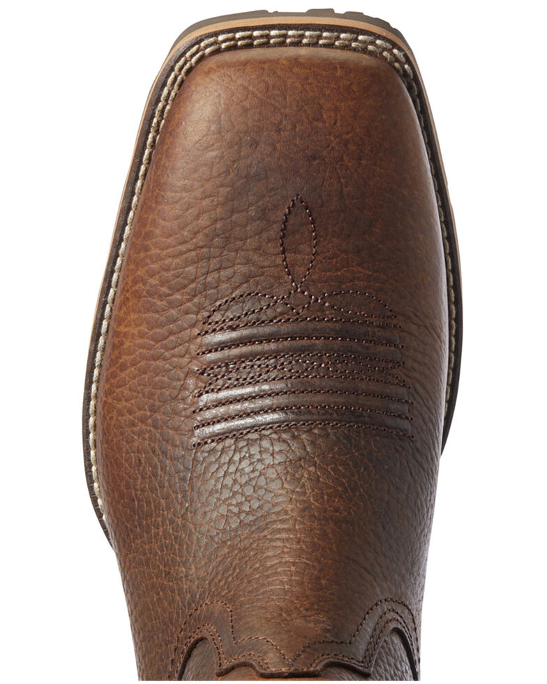 Ariat Men's Hybrid VentTEK Barley Western Boots - Wide Square Toe, Brown, hi-res