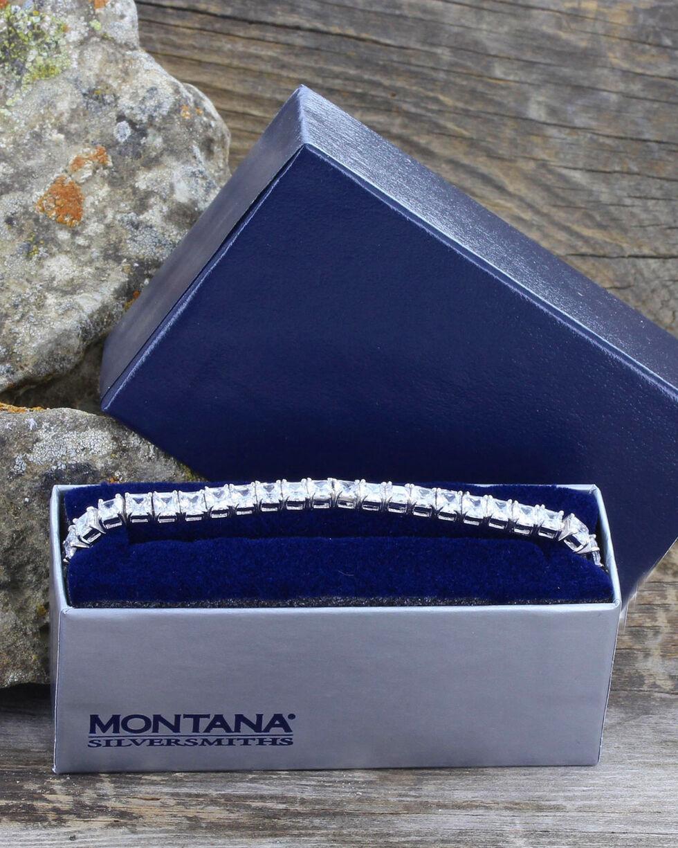 Montana Silversmiths Women's Squarely a Tennis Bolo Bracelet , Silver, hi-res