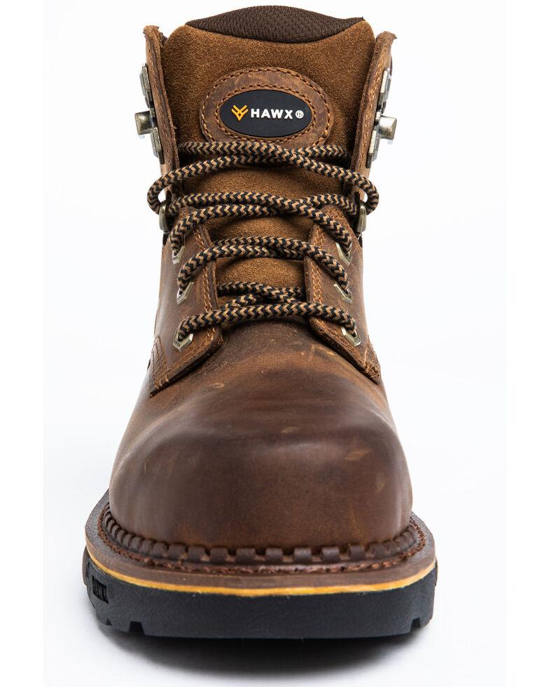 Hawx Men's Crew Chief Work Boots - Composite Toe, Dark Brown, hi-res